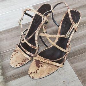 Nine West Strappy Snakeskin Sandals